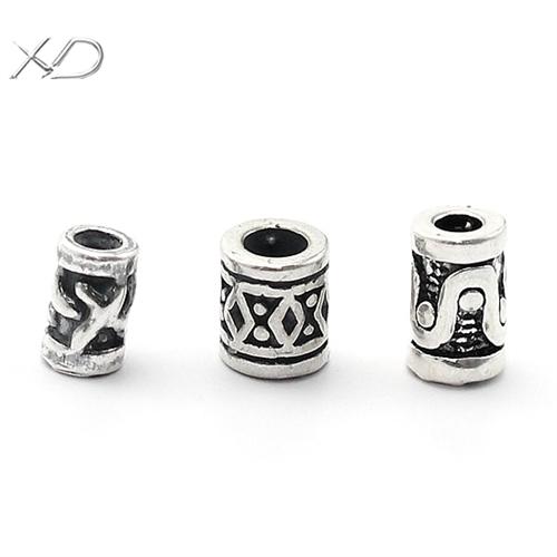 925银手工银圆柱形隔珠配件,不同规格,泰银隔珠,手串配件批发,银珠