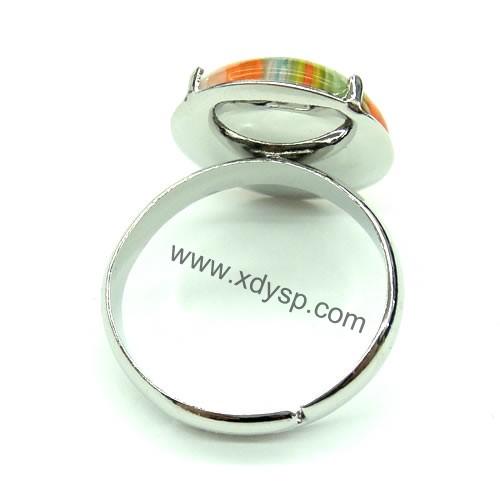 琉璃千花戒指,规格:15mm,时尚开口圈戒指(花纹颜色随机)