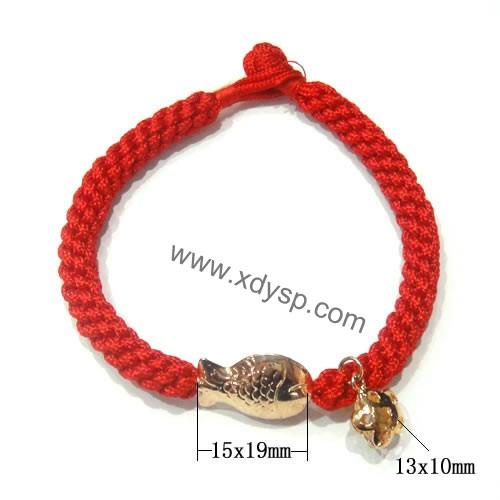 中国结编织绳,925镀玫瑰金珠子