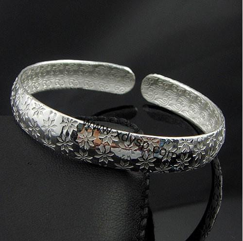纯银圆头手镯,规格:11mm,99银饰手镯,纯银手环,纯银