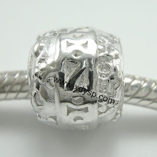 多圈银珠戒指编织图解
