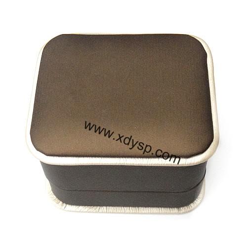 pu料戒指盒,首饰包装盒,规格:7x8x5.5cm,情侣戒指盒