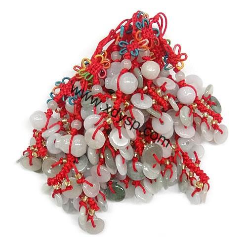 中国结葫芦加小玉佩玉器挂件,长度:90mm,手机绳