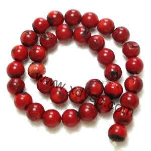 珊瑚珠,规格:12mm,长度:16寸,圆形珊瑚珠子批发,珊瑚