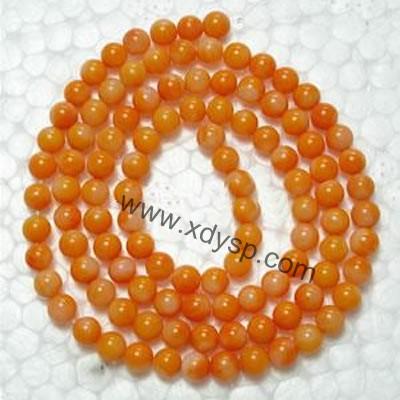 珊瑚圆珠,规格:3mm,长度:16寸,珊瑚定型珠子,圆形珊瑚