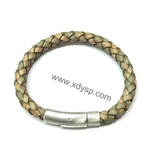 编织手链绳,不锈钢扣时尚手绳,规格:7mm,编织手链绳